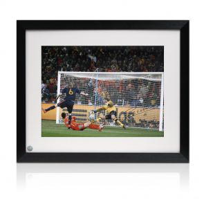 Framed Andres Iniesta Signed Photo