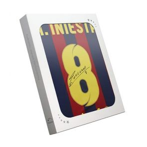 Andres Iniesta Signed Barcelona Shirt 2013-14. In Gift Box