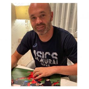 Andres Iniesta Signed Spain Photo: World Cup Winner