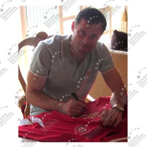 Jamie Carragher Signed Liverpool 2005 Champions League Shirt. Damaged