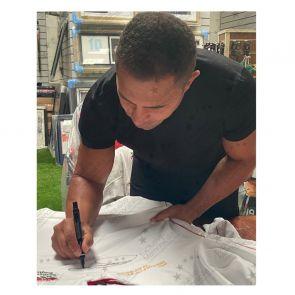 Jason Robinson Signed England Rugby Shirt. Standard Frame