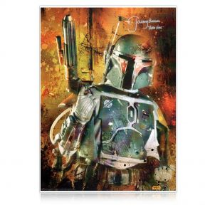 Boba Fett Signed Star Wars Poster: Bounty Hunter In Gift Box