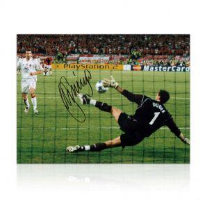 Jerzy Dudek Signed Liverpool Photo: Istanbul Hero. In Gift Box