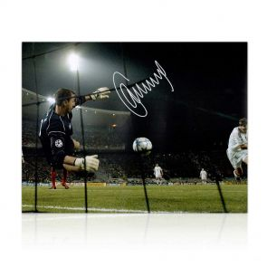Framed Jerzy Dudek Signed Liverpool Photo: The Shevchenko Save