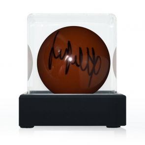Jimmy White Signed Brown Snooker Ball. In Display Case