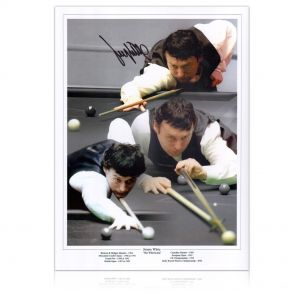 Jimmy White Signed Snooker Photo: The Whirlwind. In Gift Box