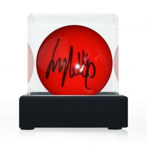 Jimmy White Signed Red Snooker Ball. In Display Case
