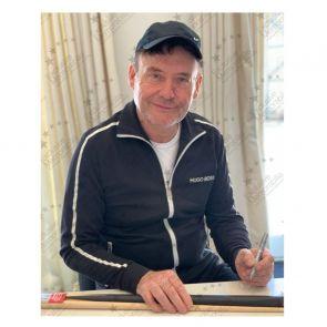 Jimmy White Signed Snooker Cue. Framed