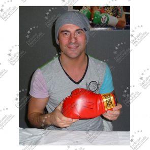 Joe Calzaghe Autographed Boxing Glove