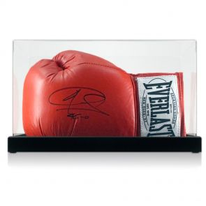 Signed Joe Calzaghe boxing glove In Display Case