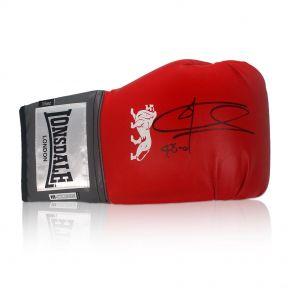 Signed Joe Calzaghe boxing glove