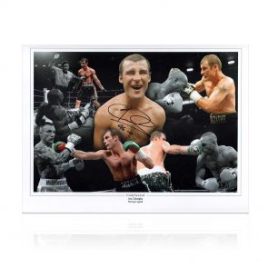Joe Calzaghe Signed 'Undefeated' 46-0 Boxing Photo. In Gift Box
