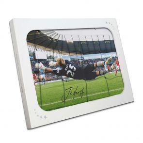 Joe Hart saving penalty, signed photo in gift box