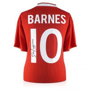 John Barnes shirt signed on the back