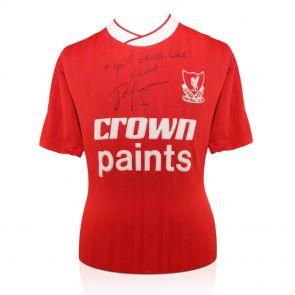 John Barnes Signed Shirt: YNWA