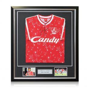 Framed John Barnes Signed Liverpool Shirt