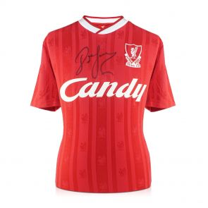 John Barnes Signed 1988-89 Liverpool Home Shirt In Gift Box