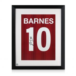 Framed John Barnes Signed Number 10 Print