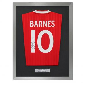 John Barnes shirt signed on the back