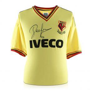 John Barnes Signed Watford 1984 FA Cup Shirt In Gift Box