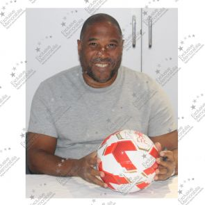 John Barnes Signed Liverpool FC Football In Display Case