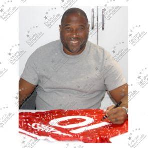 John Barnes Signed Liverpool Football Shirt 1989-91. Number 10