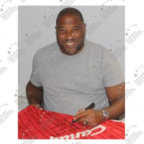 John Barnes Signed Liverpool Football Shirt 1988-89: YNWA. In Gift Box