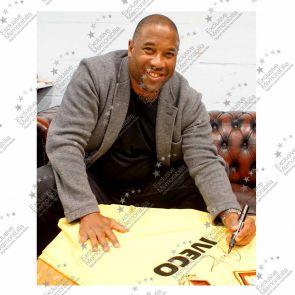 John Barnes Signed Watford 1984 FA Cup Shirt