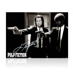 John Travolta Signed Pulp Fiction Poster: Divine Intervention