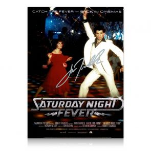 John Travolta Signed Saturday Night Fever Poster