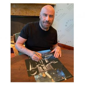 John Travolta Signed Pulp Fiction Poster: Divine Intervention. Deluxe Frame
