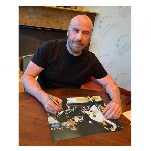 John Travolta Signed Pulp Fiction Poster: The Dance