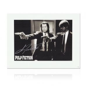 John Travolta Pulp Fiction Signed Poster: Divine Intervention