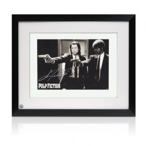 John Travolta Pulp Fiction Signed Poster: Divine Intervention. Framed