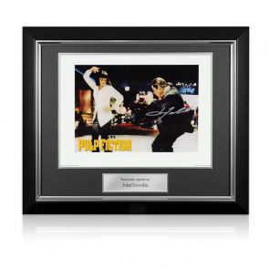 John Travolta Pulp Fiction Signed Poster: The Dance. Deluxe Frame