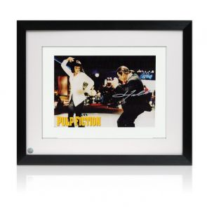 John Travolta Pulp Fiction Signed Poster: The Dance. Framed