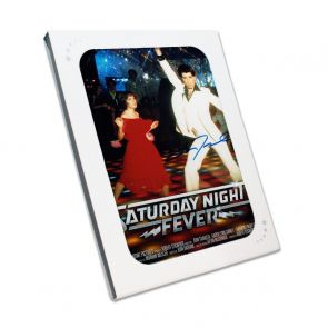 John Travolta Signed Saturday Night Fever Film Poster. In Gift Box