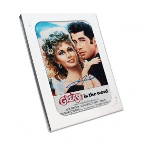 John Travolta Signed Grease Film Poster. In Gift Box