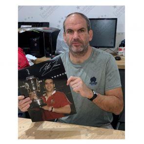 Martin Johnson Signed Photo: British And Irish Lions. Deluxe Frame