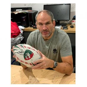 Martin Johnson Signed Leicester Tigers Rugby Ball
