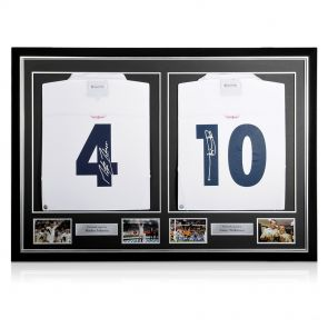 Dual Framed Jonny Wilkinson And Martin Johnson Signed England Rugby Shirts