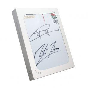 Jonny Wilkinson and Martin Johnson Signed England Shirt In Gift Box