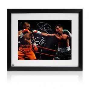 Joe Calzaghe And Roy Jones Jr Signed Boxing Photo Framed