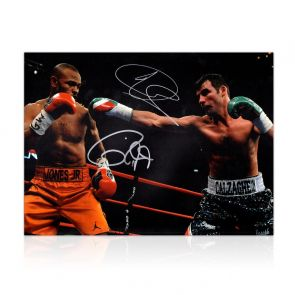 Joe Calzaghe And Roy Jones Jr Signed Boxing Photo