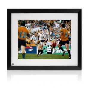 Jonny Wilkinson Signed 2003 Rugby World Cup Photo: Moment Of Glory. Framed