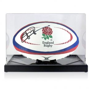 Jonny Wilkinson Signed Rugby Ball In Display Case