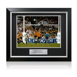 Jonny Wilkinson Signed 2003 Rugby World Cup Photo: The Drop-Kick