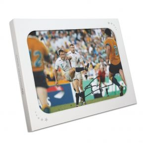 Jonny Wilkinson Signed 2003 Rugby World Cup Photo: Moment Of Glory In Gift Box