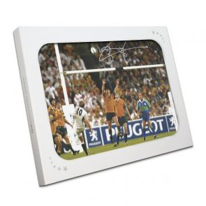 Jonny Wilkinson Signed 2003 Rugby World Cup Photo: Winning Drop-Goal. In Gift Box