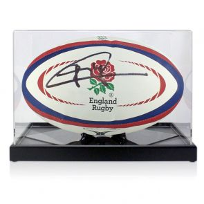Jonny Wilkinson Signed England Rugby Ball. In Display Case